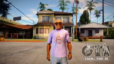 Camisa Asuna Love (SAO) para GTA San Andreas