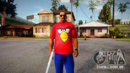 Camiseta angry birds para GTA San Andreas