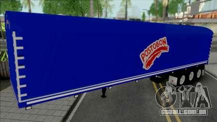 Colombian Postobon Company Trailer para GTA San Andreas