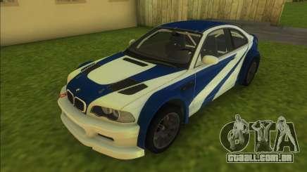 BMW M3 GTR para GTA Vice City