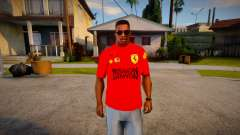 Scuderia Ferrari T-Shirt para GTA San Andreas