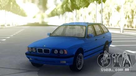 BMW M5 E34 Wagon Blue para GTA San Andreas