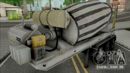 Cement Mixer Trailer para GTA San Andreas
