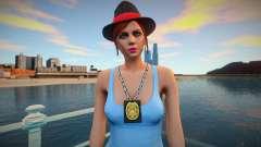 Garota policial no estilo de GTA 5 para GTA San Andreas