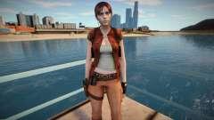 Claire Redfield in a costume Helena Harper para GTA San Andreas