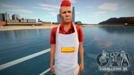 Vendedor de cachorros-quentes omonood para GTA San Andreas