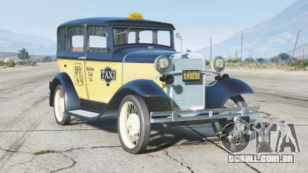 Ford Model A Town Sedan 1931〡Taxi〡add-on v0.3 para GTA 5