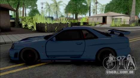 Nissan Skyline GT-R 2002 para GTA San Andreas