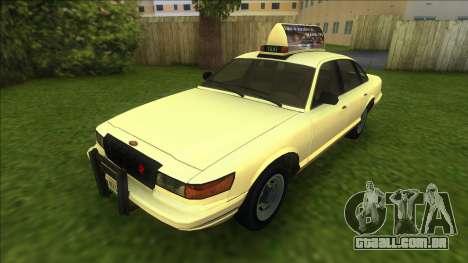 Vapid Stanier Taxi para GTA Vice City