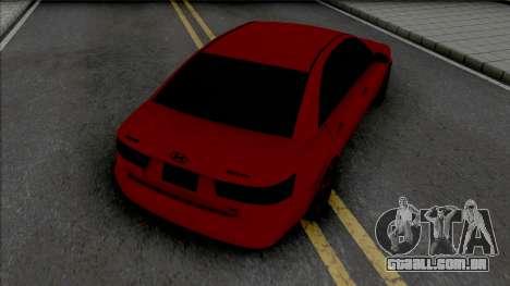 Hyundai Sonata Red Black para GTA San Andreas