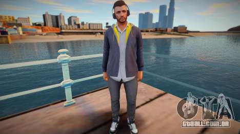 Cara em fones de ouvido do GTA Online para GTA San Andreas