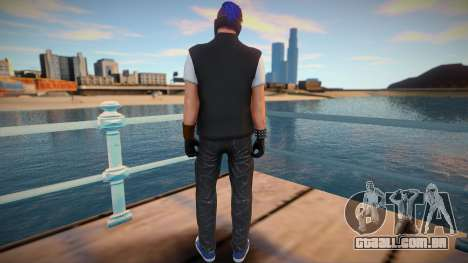 Male Biker DLC from GTA Online para GTA San Andreas