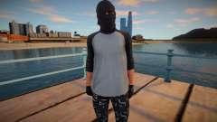Cara em uma máscara de malha de GTA Online para GTA San Andreas