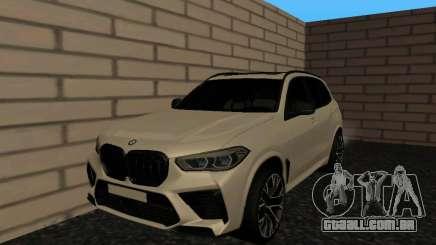 BMW X5M F95 White Plates para GTA San Andreas