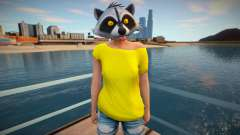 Girl raccoon from GTA Online para GTA San Andreas