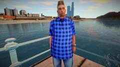 Wmybar em uma camisa azul para GTA San Andreas