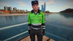 Polícia de trânsito privada em uniforme de inverno para GTA San Andreas