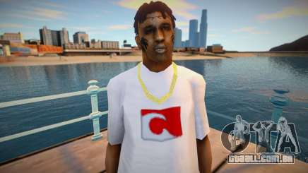 Bmycr em uma camiseta branca para GTA San Andreas