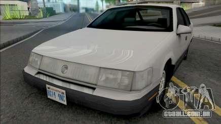 Mercury Sable GS 1989 Lowpoly para GTA San Andreas