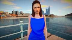 Mila blue dress para GTA San Andreas