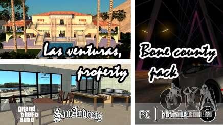Las Venturas, pacote de propriedade do condado de Bone para GTA San Andreas