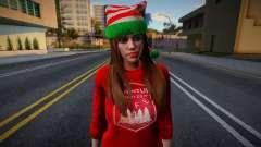 Garota com roupas de Ano Novo 4 para GTA San Andreas