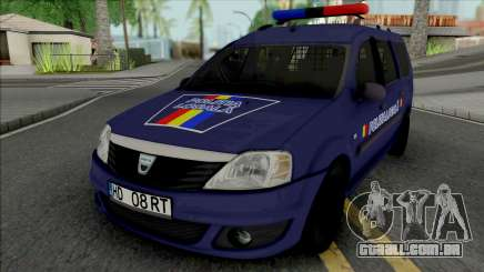 Dacia Logan MCV 2010 Politia Locala para GTA San Andreas